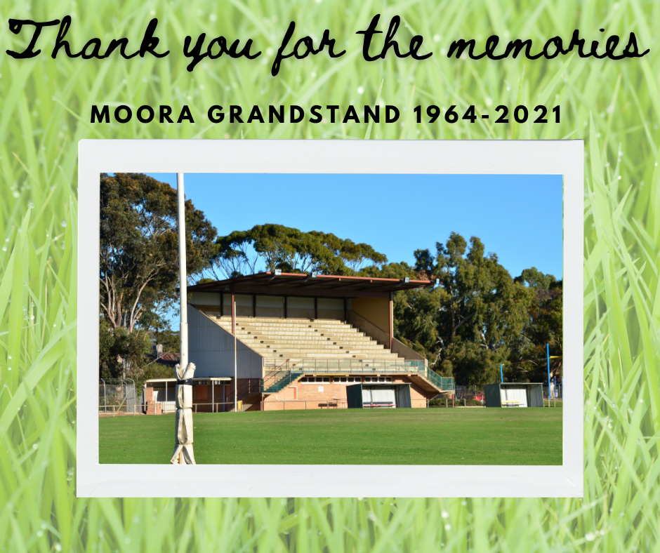 News Story: ~End of an era for the Moora Grandstand~