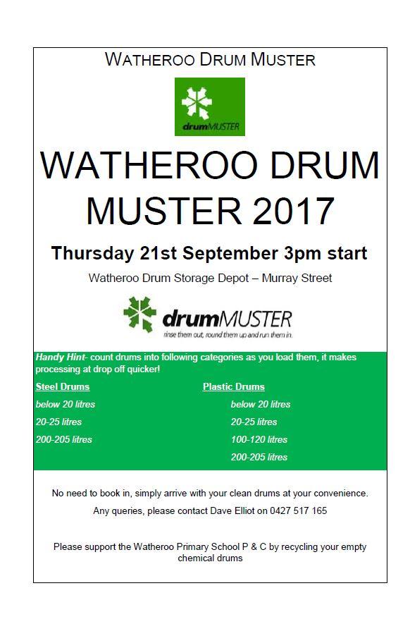 moora watheroo drum muster - Muster Depot