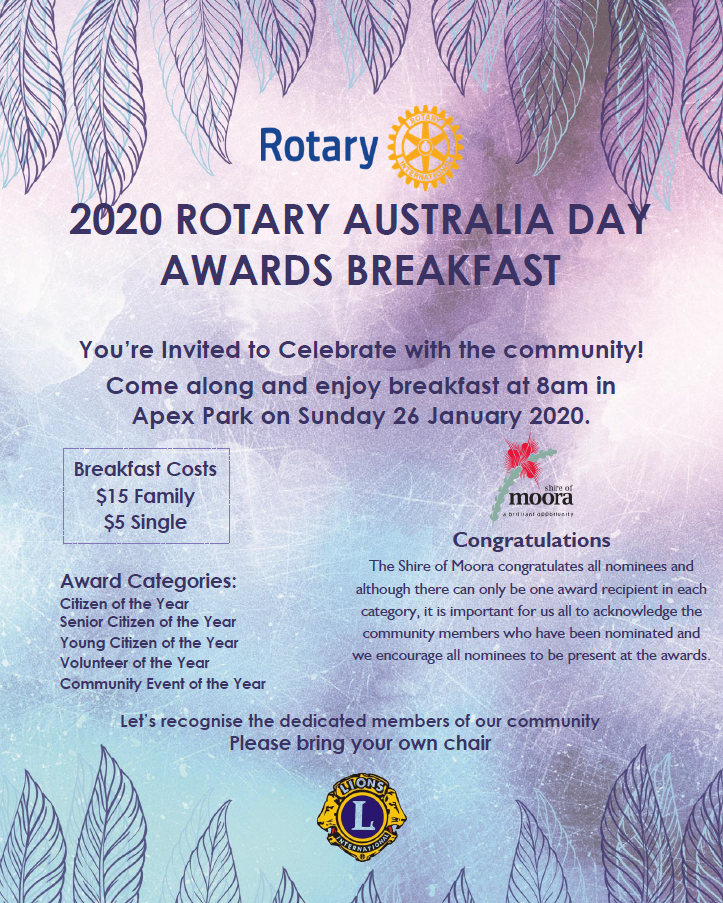 2020 Rotary Australia Day Awards