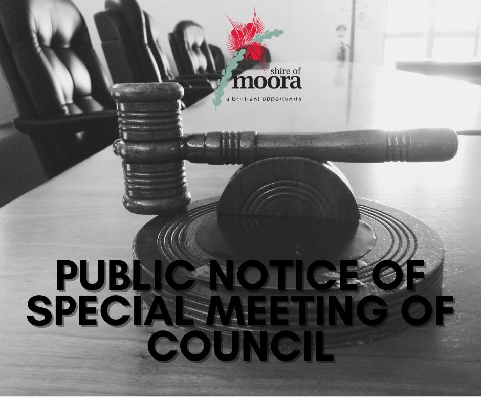 PUBLIC NOTICE OF SPECIAL MEETING OF COUNCIL