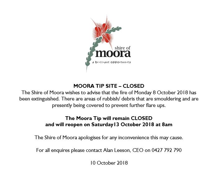 MOORA TIP SITE – CLOSED