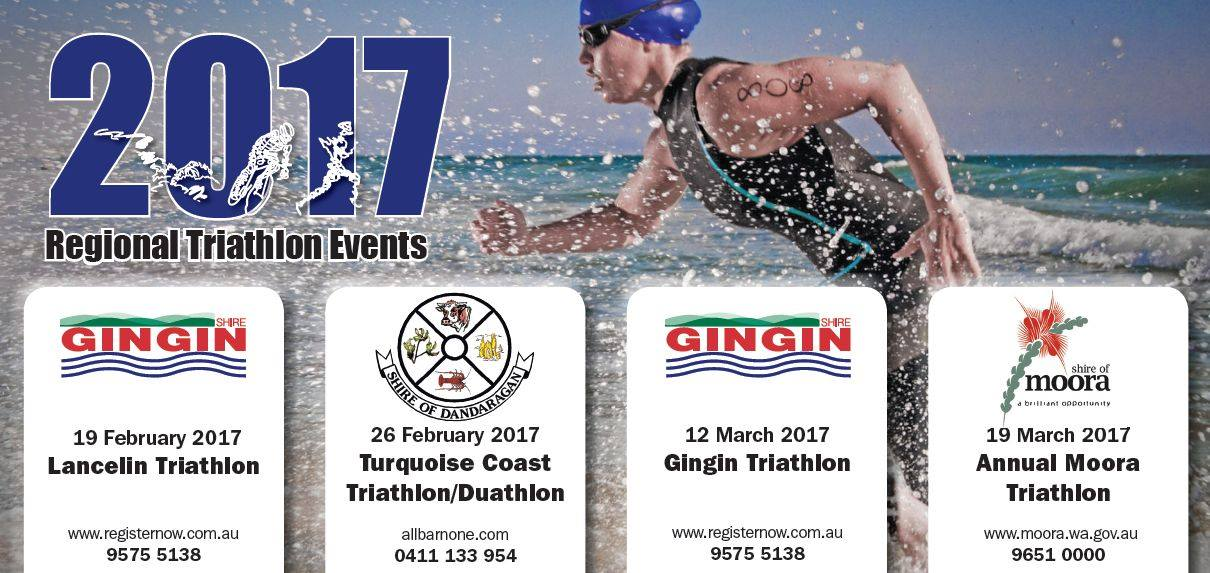 Did you know that there are four triathlon events in our region in February and March?
